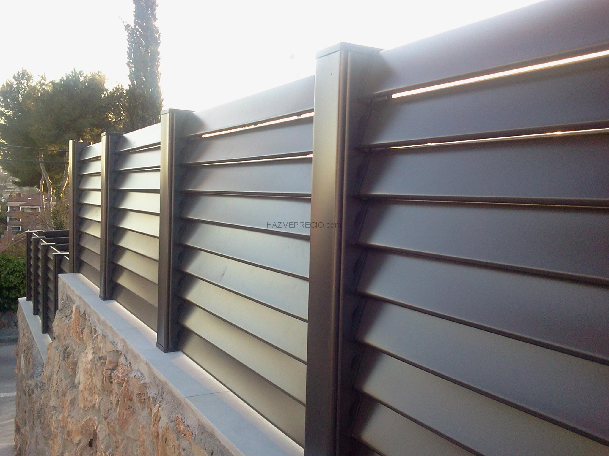 Lamas de aluminio para vallas